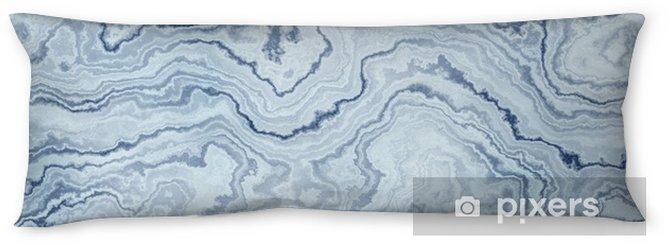 Lichaamskussen Naadloze textuur van blauw marmer patroon voor de achtergrond / illustratie - Ontspanning