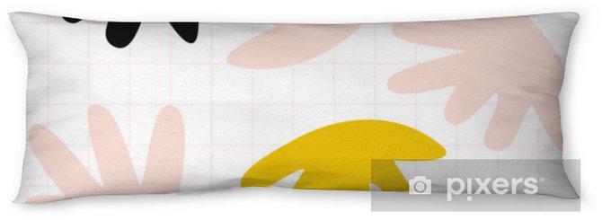 Lichaamskussen Vector naadloze patroon met abstracte organische vormen in pastel kleuren en eenvoudige geometrische achtergrond. - Grafische Bronnen
