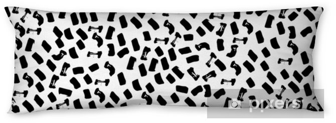 Lichaamskussen Vector naadloze patroon van moderne borstel plek. hand getrokken gegraveerde vintage illustratie. - Grafische Bronnen
