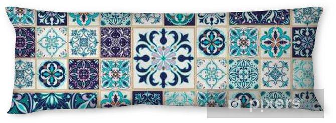 Lichaamskussen Vector naadloze textuur. Mooie patchwork patroon voor design en mode met decoratieve elementen - Grafische Bronnen