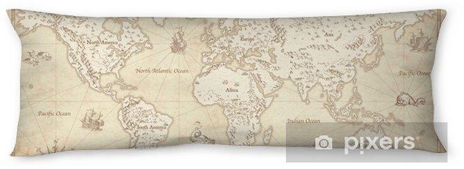 Lichaamskussen Vintage geïllustreerde wereldkaart - Reizen
