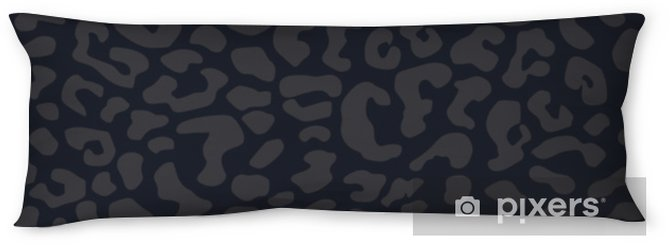 Lichaamskussen Zwarte tijger panter textuur abstracte naadloze vector patroon achtergrond - Grafische Bronnen