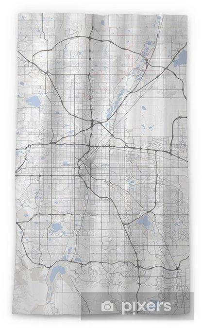 Colorado Karte.Lichtdurchlässiger Fenstervorhang Karte Denver Stadt Colorado Straßen