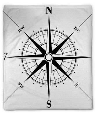 Manta de felpa Compass rose