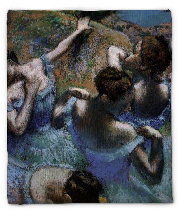Manta de felpa Edgar Degas - Los bailarines azules - Reproducciones