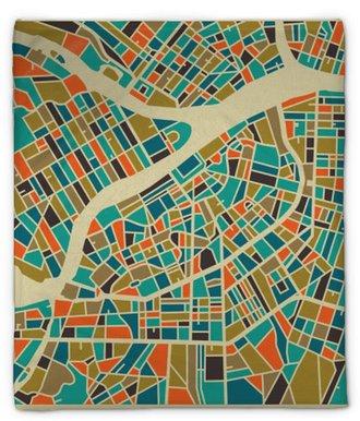 Manta de felpa San Petersburgo mapa vectorial. base de colorido diseño de la vendimia para la tarjeta de viaje, publicidad, regalo o un cartel.