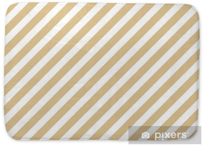 Mata łazienkowa Pasek beżowy wzór - Zasoby graficzne