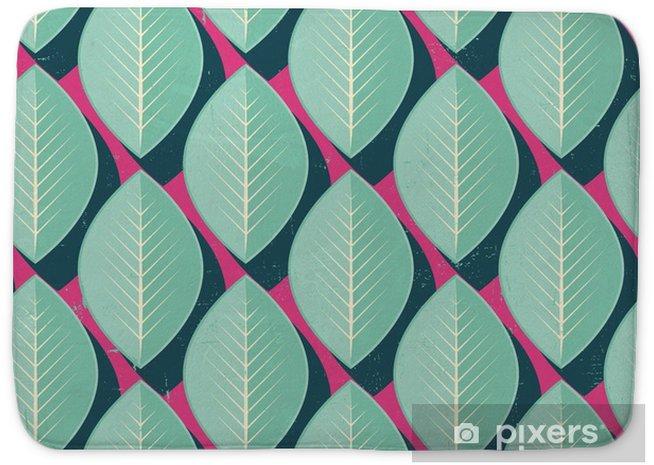 Mata łazienkowa Wektor kolorowe abstrakcyjne retro geometryczny wzór - Kwiaty i rośliny