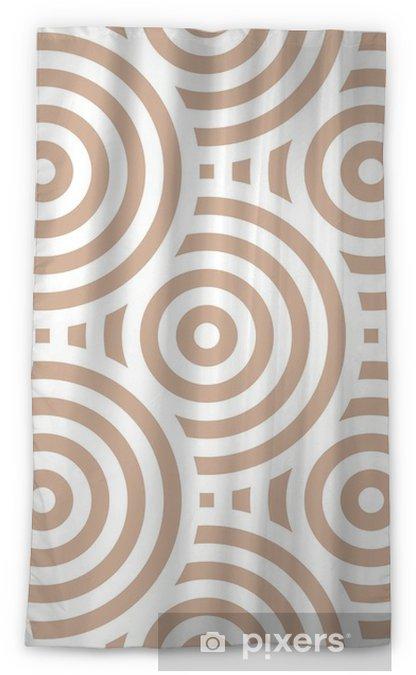 Mörkläggande fönstergardin Geometriskt sömlöst mönster. beige prydnadsdesign - Grafiska resurser