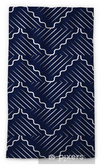 Mörkläggande fönstergardin Sömlös blå kinesisk bakgrund orientalisk kurva vågkors geometri linje - Grafiska resurser
