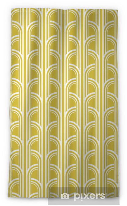 Mörkläggande fönstergardin Sömlös vintage geometrisk mönster - Grafiska resurser
