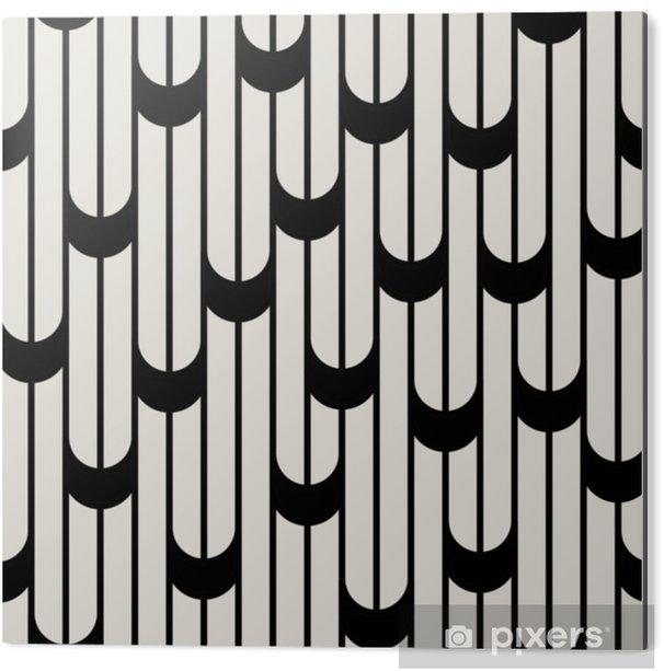 Obraz na Aluminium (Dibond) Abstrakcyjne geometryczne czarno-białe minimalne szaty graficzne wzór - Zasoby graficzne