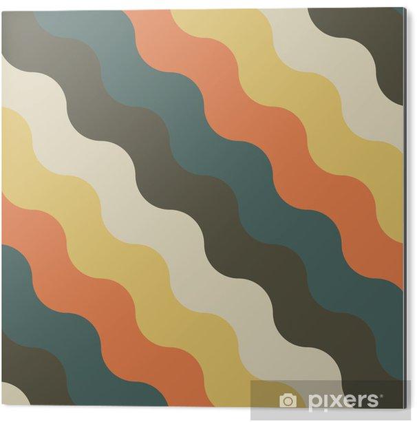 Obraz na Aluminium (Dibond) Streszczenie retro geometryczny wzór - Tła