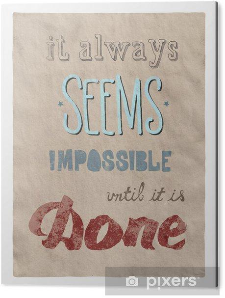 Obraz na Aluminium (Dibond) Wszystko jest możliwe, plakat - Koncepcje biznesowe