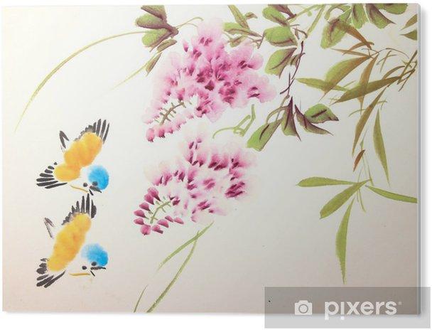 Obraz na PCV Chiński malarstwo tuszem ptaków i roślin - Zwierzęta