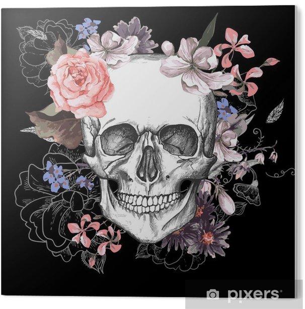 Obraz na PCV Czaszki i kwiaty dzień żyje - Koncepcja
