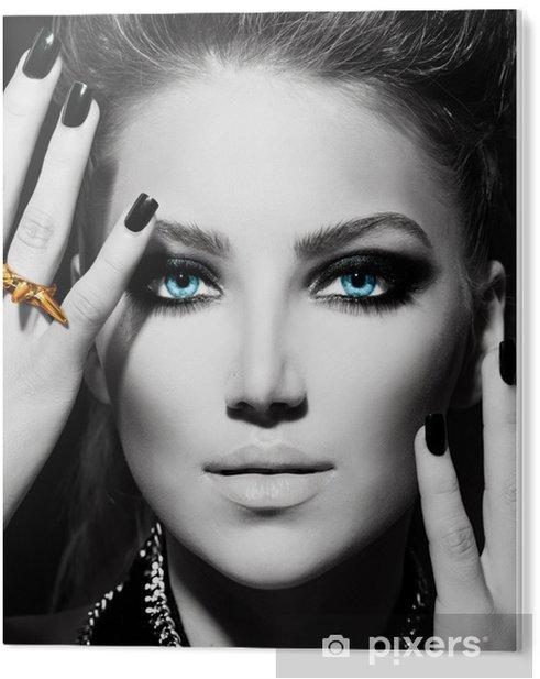Obraz na PCV Fashion Girl. Czarno-biały portret - Moda
