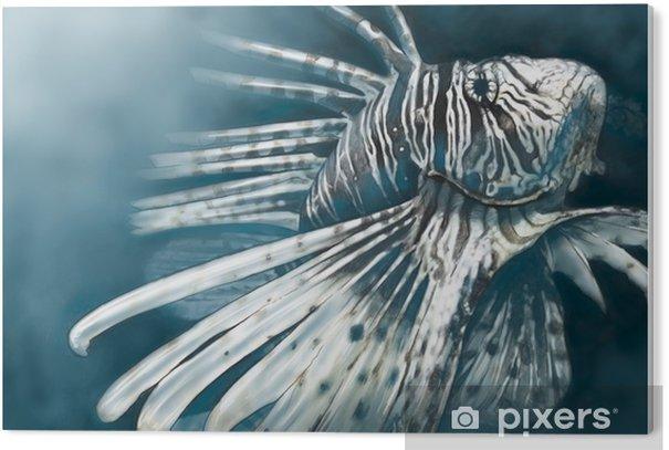 Obraz na PCV Ilustracja wykonana z niebezpiecznej cyfrowej tabletki skorpiona, - Zwierzęta