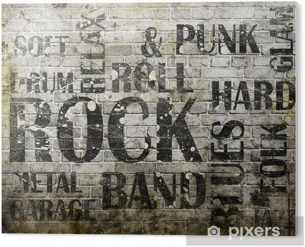 Obraz na PCV Plakat grunge rock - Rock
