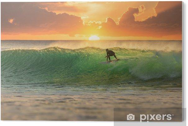 Obraz na PCV Serfer serfujący o wschodzie słońca - iStaging