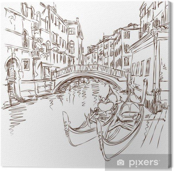 Obraz na plátně 2 gondoly. Ponte del Mondo Novo 817e8b0b8a