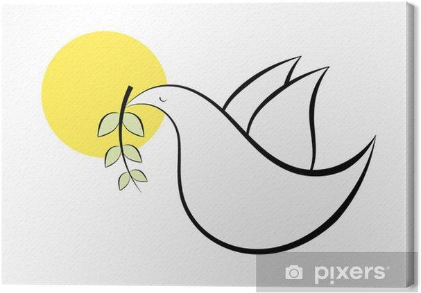 Obraz Na Platne Abstraktni Kresba Holubice Pixers Zijeme Pro Zmenu