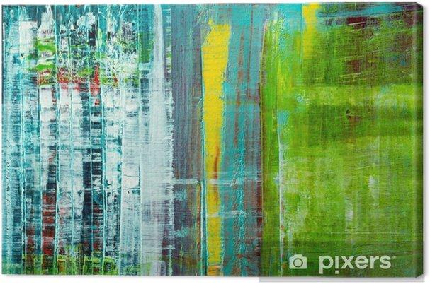 Obraz na plátně Abstraktní malované plátno. olejové barvy na paletě. - Grafika