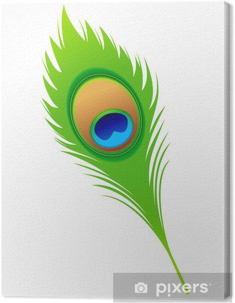 Obraz na plátně Abstraktní umělecké paví peří - Značky a symboly