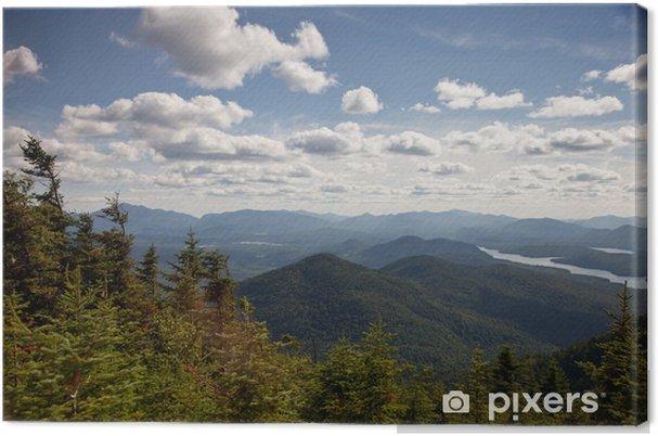 Obraz na plátně Adirondack hory lesy a jezera krajina - Hory