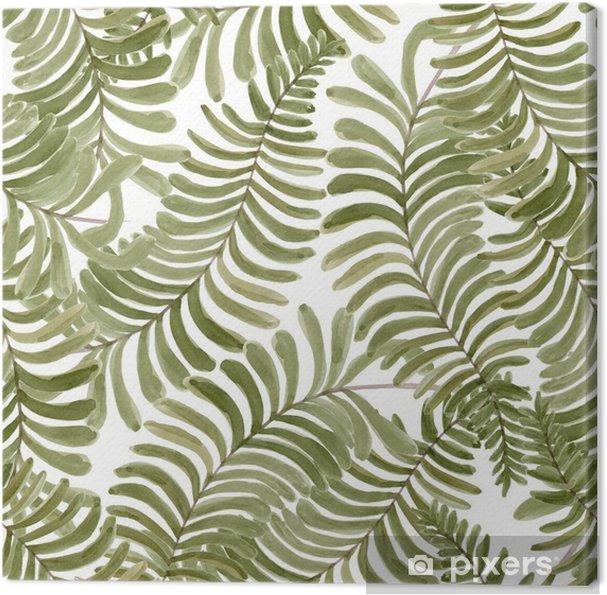 Obraz Na Platne Akvarel Bezproblemove Vzorek S Palmovymi Listy