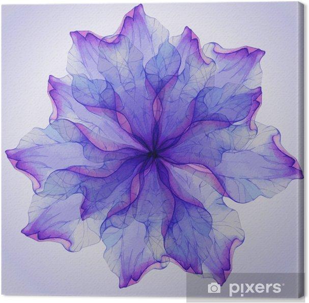 Obraz na plátně Akvarel květinové vzory kulaté. - Květiny