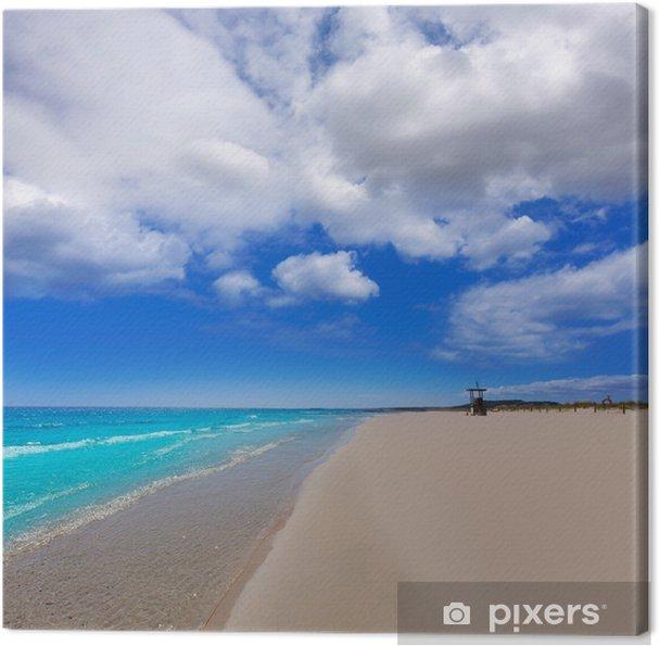 Obraz na plátně Alaior Cala Son Bou v Menorca pláži v tyrkysové Baleárských - Evropa