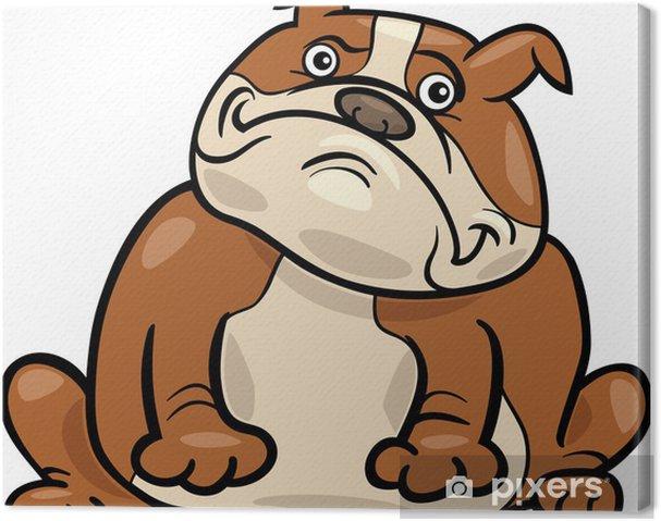 Obraz na plátně Anglický buldok pes kreslené ilustrace - Nálepka na stěny 4f953aadd6