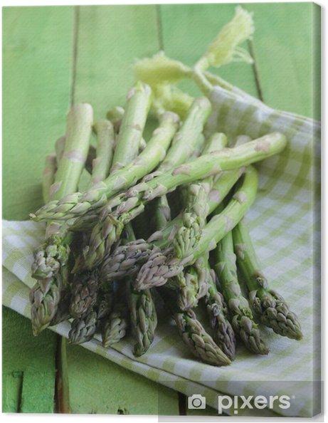 Obraz na plátně Banda čerstvé organické zeleného chřestu - Jídla