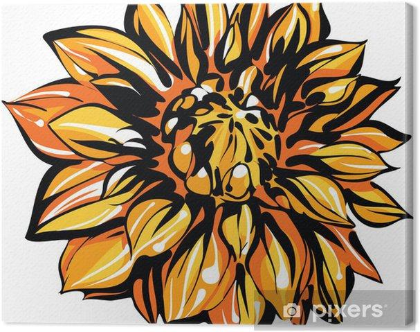 Obraz na plátně Barevné skica chryzantémy - Květiny