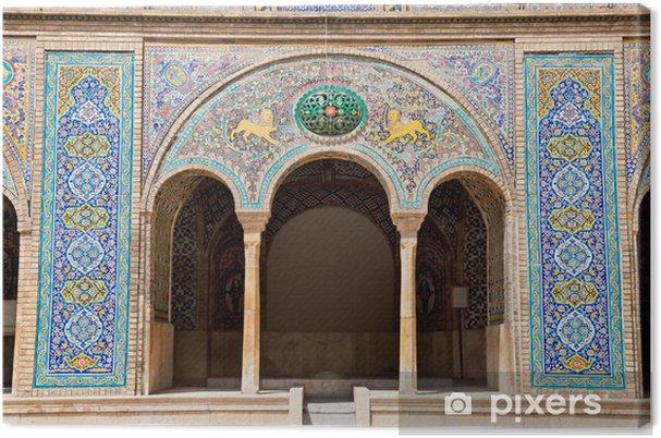 Obraz na plátně Beautyful mozaika oblouk Golestan palác,, Teherán, Írán - iStaging