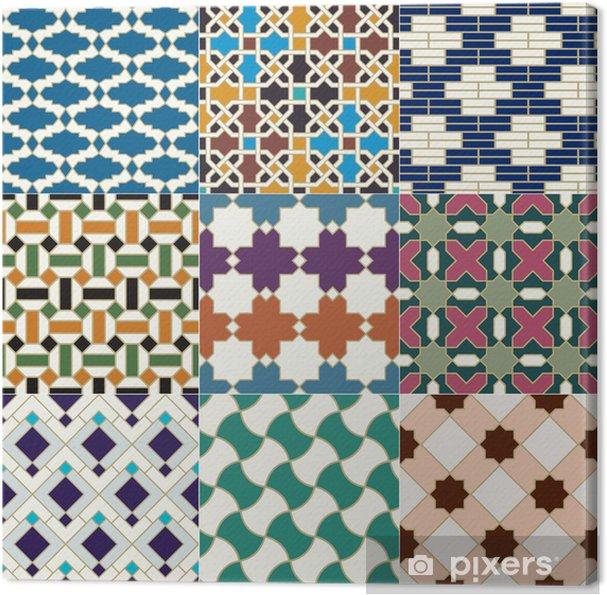 Obraz na plátně Bezešvé marocké islámský dlaždice vzor - Dlaždice