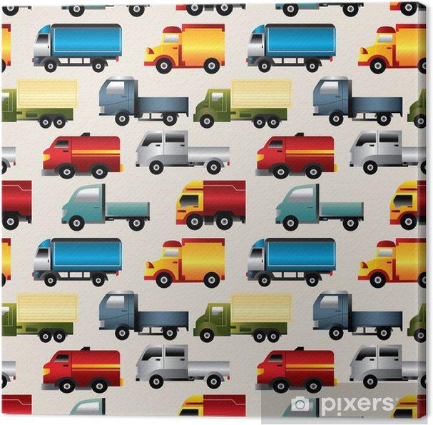 Obraz na plátně Bezešvé truck vzorek - Pro předškoláka