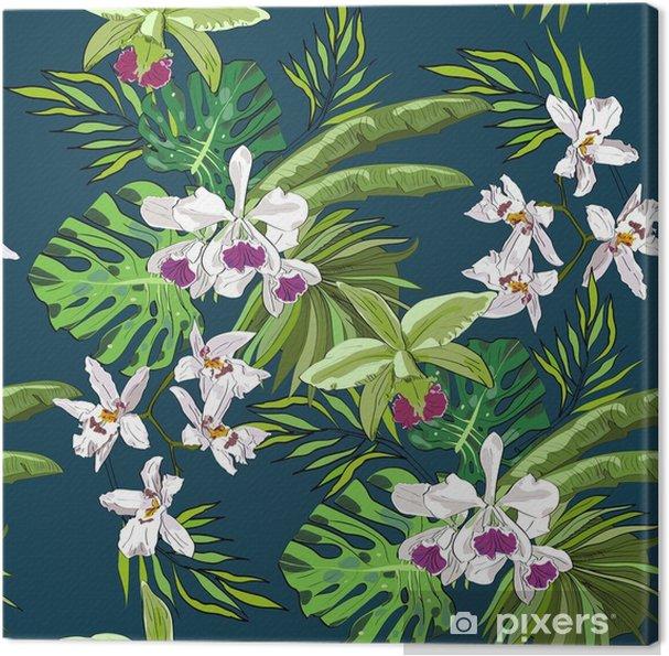 Obraz Na Platne Bezesve Vektorove Vzor Rucne Kreslene Kvetiny A