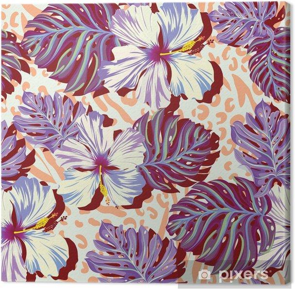 Obraz na plátně Bezešvé vektoru vzor pro muže Aloha květiny v tlumených barvách. - Životní styl