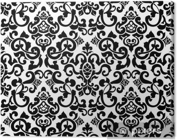 Obraz na plátně Černé bezešvé vzor, silueta - Styly
