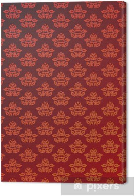 Obraz na plátně Červená a zlatá půvab tapety - Styly