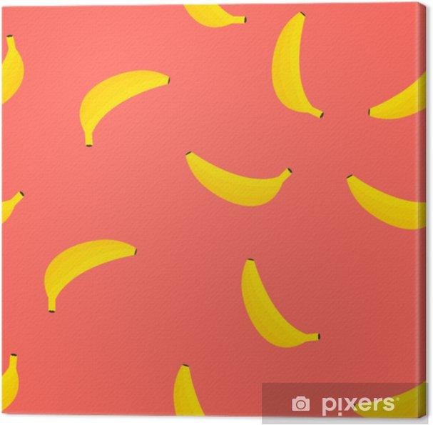 Obraz na plátně Červená banán bezproblémové vzorek. vektorové ilustrace. - Grafika