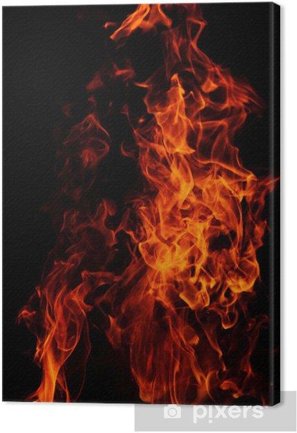 Obraz na plátně Červené plameny na pozadí - Pozadí