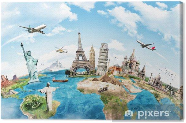 Obraz na plátně Cestovat po světě památkovou koncepci -