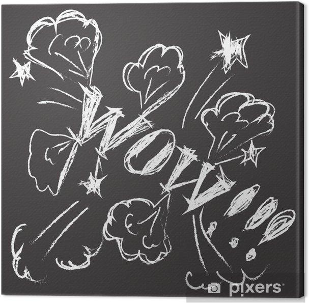 Obraz na plátně Chalk Banner - Umění a tvorba