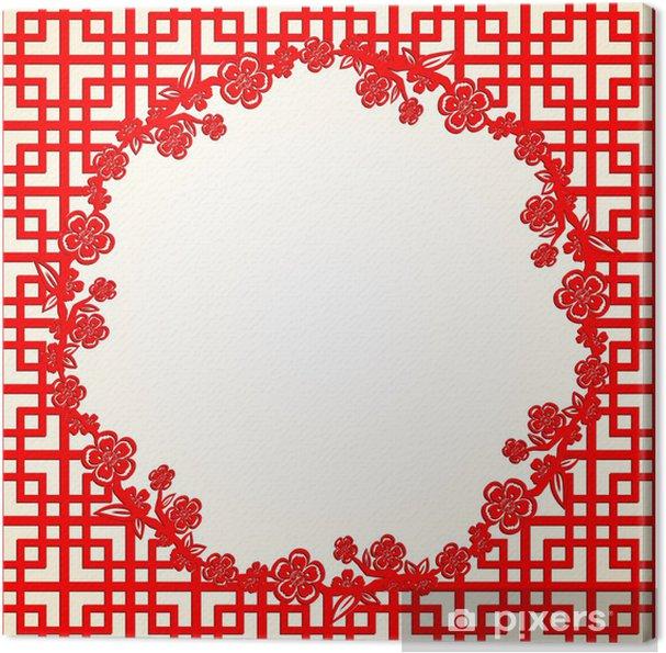 Obraz na plátně Čínský Nový rok Cherry Blossom pozadí - Styly