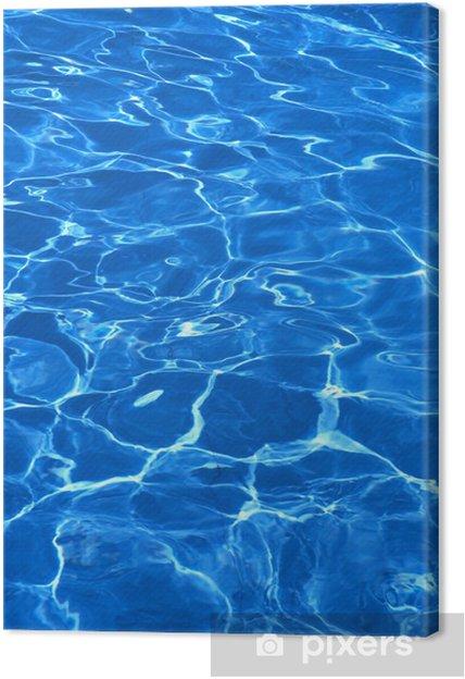 Obraz na plátně Čisté modré vody v bazénu - Struktury