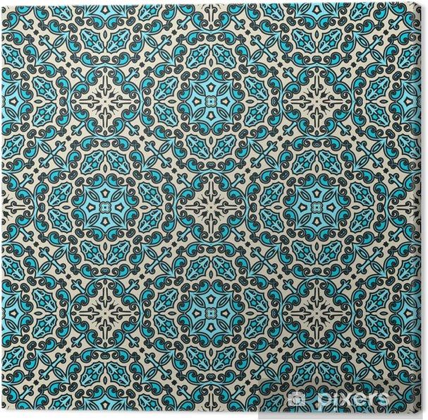 Obraz na plátně Damašek ornament, bezešvé vzor - Styly