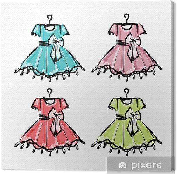 15add2c316de Obraz na plátně Dětské šaty na ramínka pro svůj design • Pixers ...